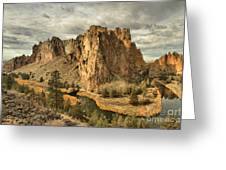Jagged Smith Rock Greeting Card