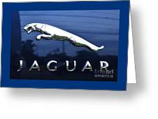 A Gift For Dads And Jaguar Fans Greeting Card