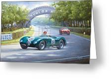 Jaguar D Type Greeting Card
