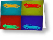 Jaguar E Type Pop Art 1 Greeting Card by Naxart Studio
