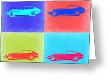 Jaguar E Type Pop Art 2 Greeting Card by Naxart Studio