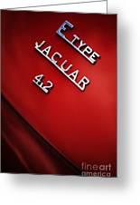 Jaguar E Type Greeting Card