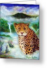 Jaguar In The Mist Greeting Card