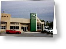 Jaguar Land Rover At Dusk Greeting Card