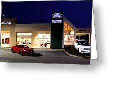 Jaguar Land Rover Harrisburg At Dark Greeting Card
