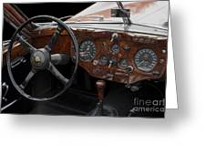 Jaguar Odtimer Steering Wheel Greeting Card