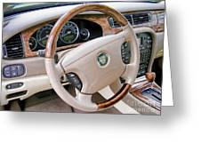 Jaguar S Type Interior Greeting Card