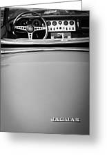 Jaguar Steering Wheel - Emblem Greeting Card