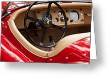 Jaguar Steering Wheel Greeting Card by Jill Reger