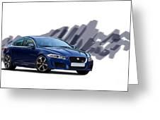 Jaguar Xe Rs Greeting Card