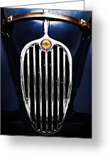 Jaguar Xk140 Grille Greeting Card by Mark Rogan