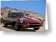Jaguar Xke Greeting Card