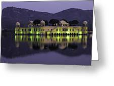 Jai Mahal Water Palace Greeting Card