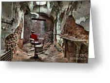 Jail Cell Barber Greeting Card