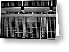 Jail Cells Greeting Card