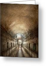 Jail - Eastern State Penitentiary - End Of A Journey Greeting Card