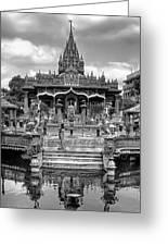 Jain Temple Monochrome Greeting Card