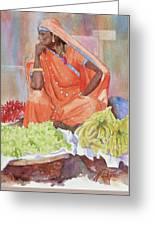 Jaipur Street Vendor Greeting Card