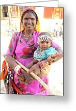 Jaisalmer Mother Daughter Greeting Card
