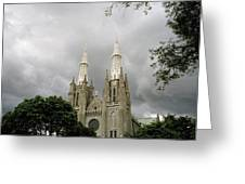 Jakarta Cathedral Indonesia Greeting Card