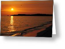 Jamaica Sunset Greeting Card