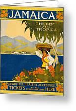Jamaica The Gem Of The Tropics Greeting Card