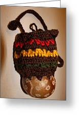 Jamaican Coconut And Crochet Shoulder Bag Greeting Card