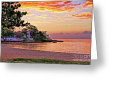 Jamaican Sunset Greeting Card