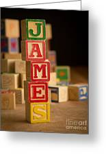 James - Alphabet Blocks Greeting Card