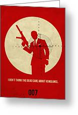 James Bond Quantum Of Solace Poster Greeting Card