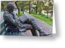 James Bradley Statue 9882 Greeting Card