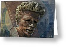 James Dean Greeting Card by Bedros Awak