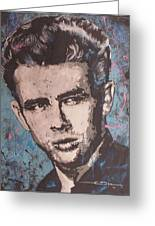James Dean Blues Greeting Card by Eric Dee
