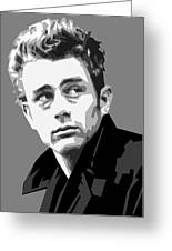 James Dean In Black And White Greeting Card