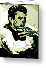 James Dean Poster Art Greeting Card