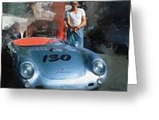 James Dean With His Spyder Greeting Card