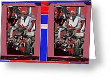 James Earl Jones Smoking Twice Collage The Great White Hope Set Globe Arizona 1969-2012 Greeting Card