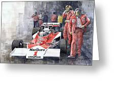 James Hunt Monaco Gp 1977 Mclaren M23 Greeting Card