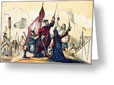 James IIi Lands In Scotland, 1715 Greeting Card