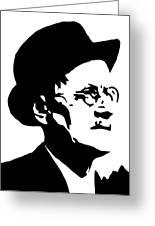 James Joyce Famous Irish Writer Greeting Card