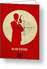 James Poster Red 2 Greeting Card