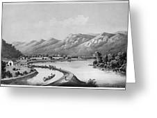 James River Canal, 1857 Greeting Card