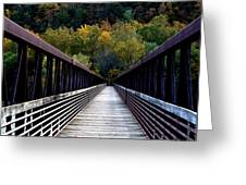 James River Footbridge Greeting Card