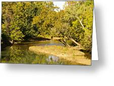 James River In The Fall Greeting Card