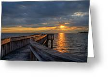 James River Sunset Riverview Pier Greeting Card