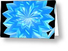jammer Blue Shimmer Lotus Greeting Card