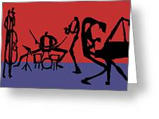 Jammin Jazz Quintet Greeting Card