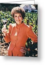 Jane Wyman In Falcon Crest  Greeting Card