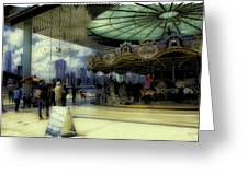 Jane's Carousel 3 In Dumbo Greeting Card