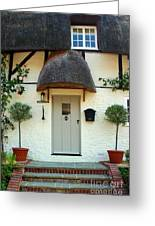 Janes Cottage Nether Wallop Greeting Card